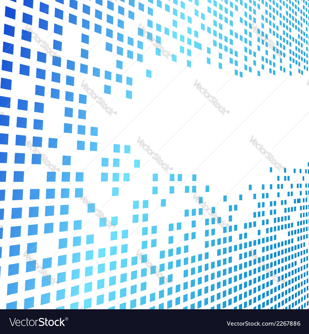 Modern geometrical square blue background vector | Price: 1 Credit (USD $1)