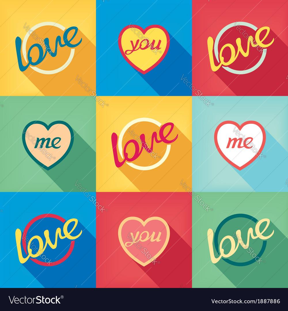 Pop-art style card symbol of love vector | Price: 1 Credit (USD $1)