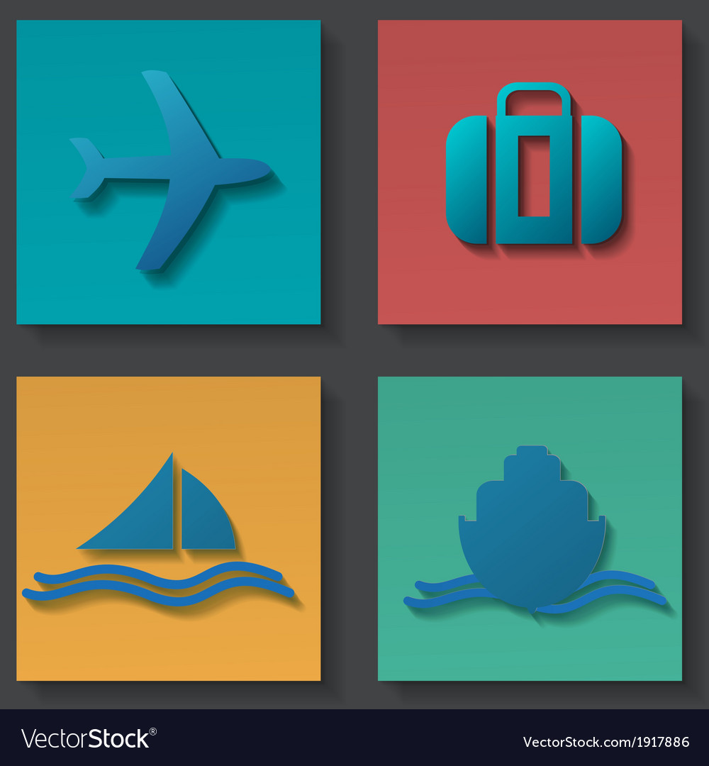 Transportation icons set vector   Price: 1 Credit (USD $1)