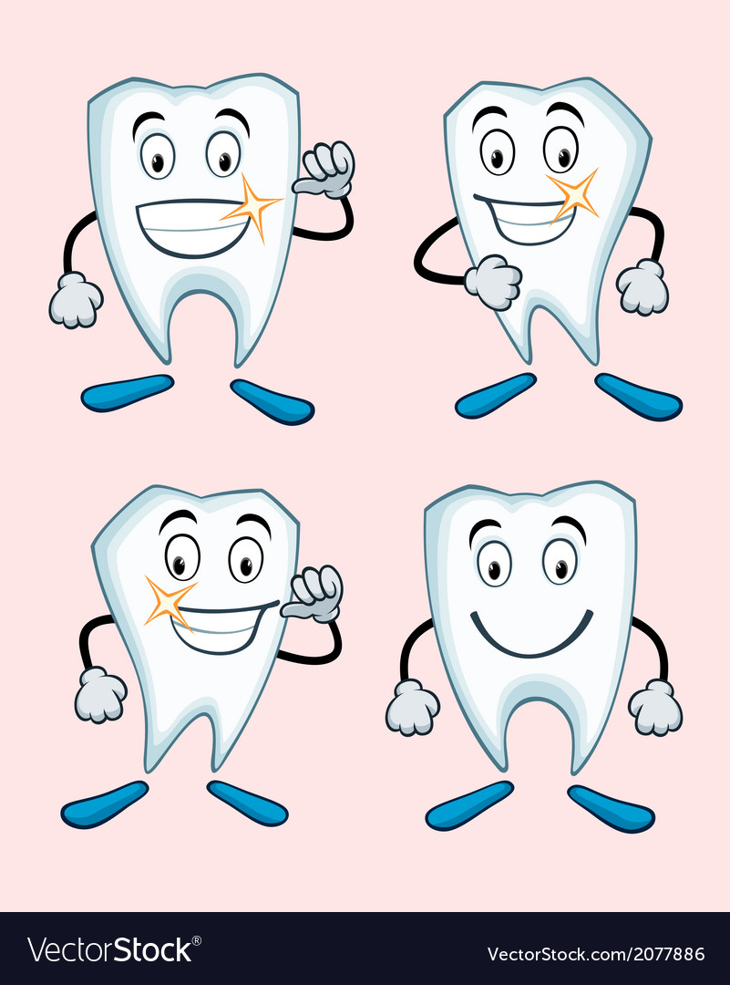 Various expressions of teeth vector | Price: 1 Credit (USD $1)