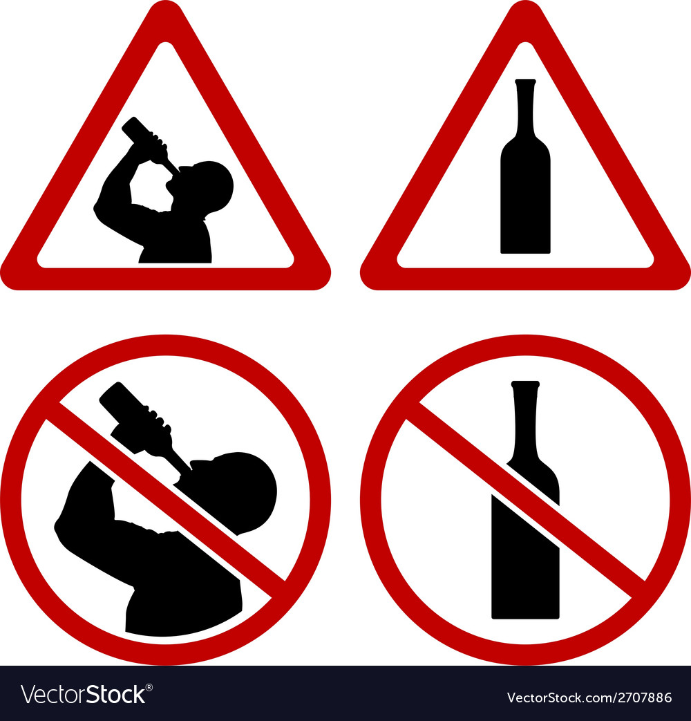 Warning signs of alcohol vector | Price: 1 Credit (USD $1)