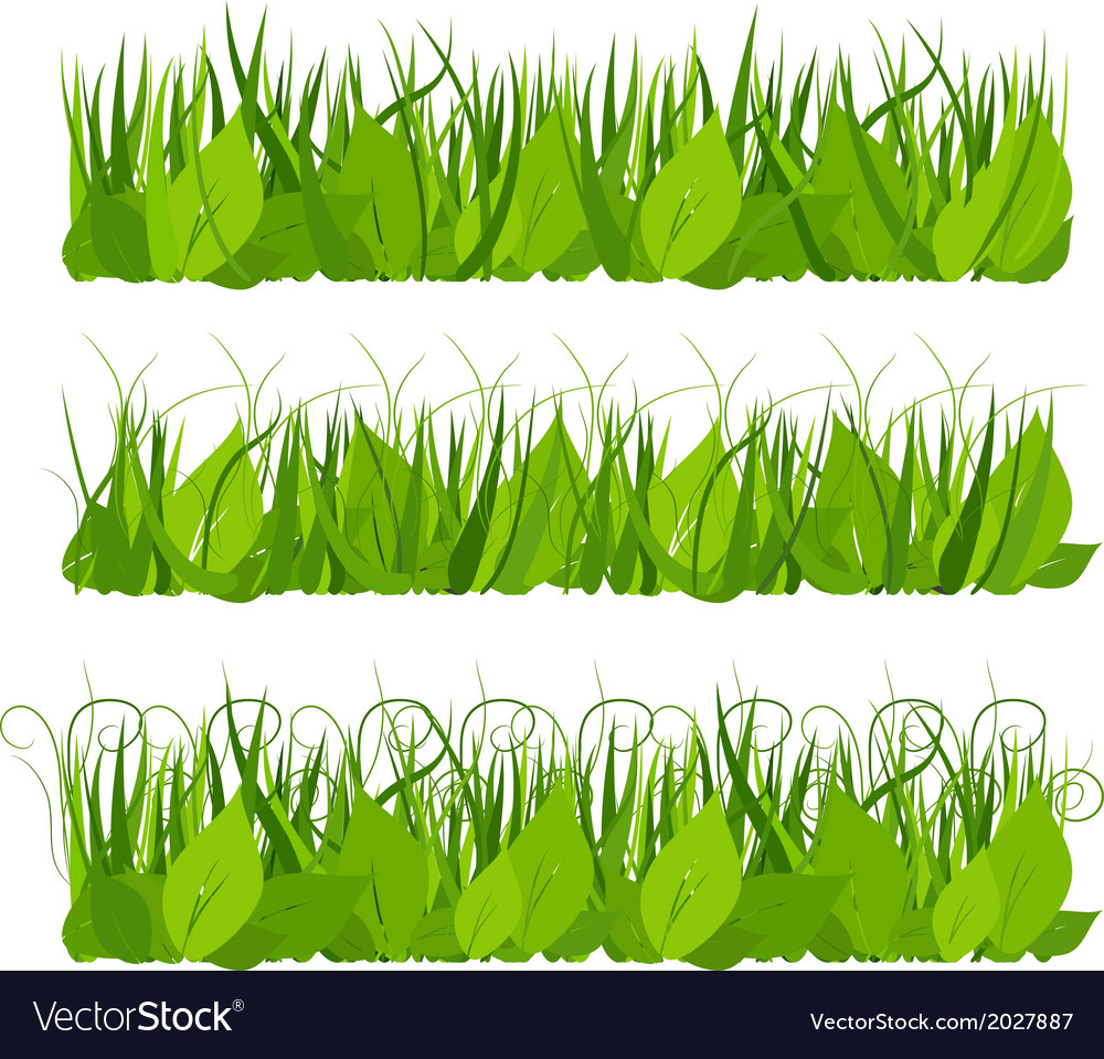 Collection grass vector | Price: 1 Credit (USD $1)