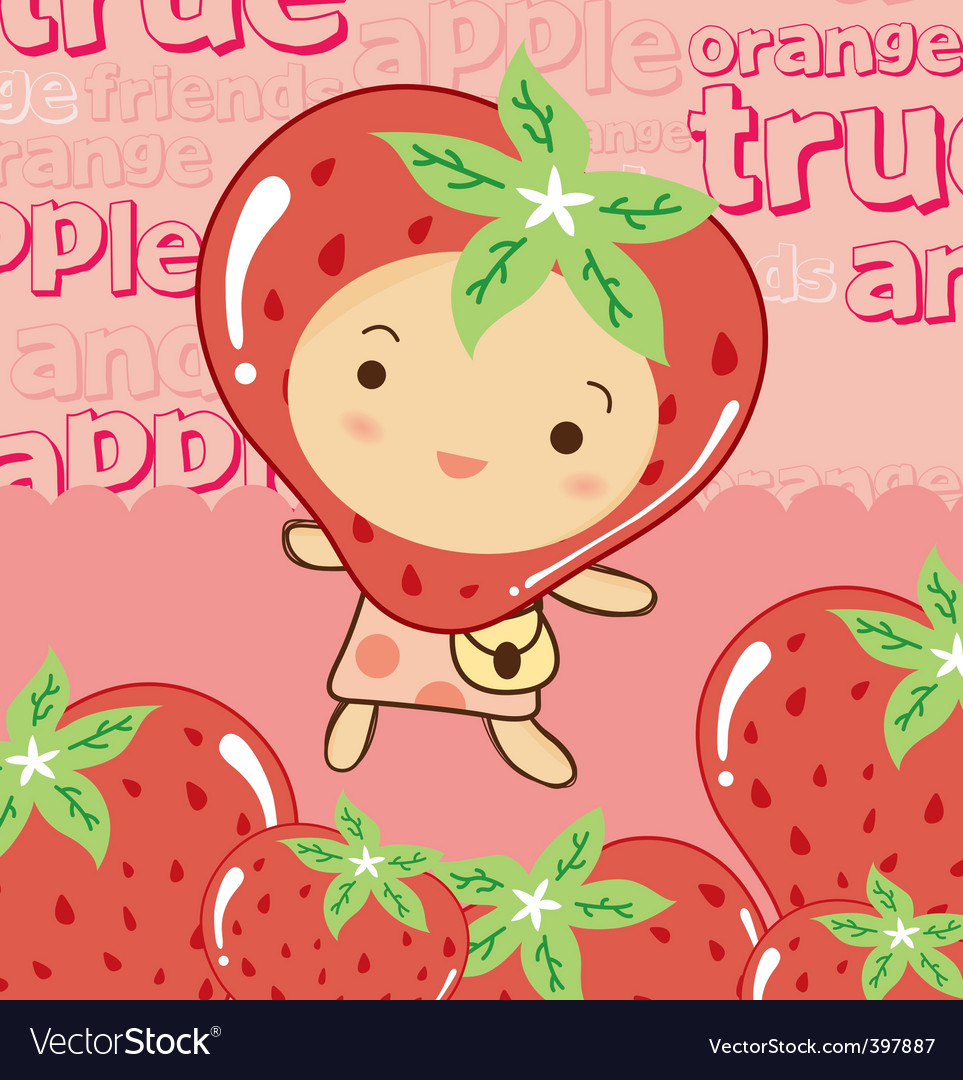 Cute strawberry vector | Price: 1 Credit (USD $1)