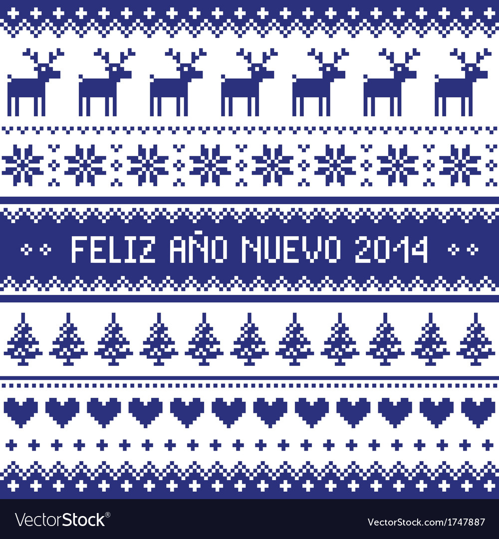 Feliz ano nuevo 2014 - spanish happy year pattern vector | Price: 1 Credit (USD $1)