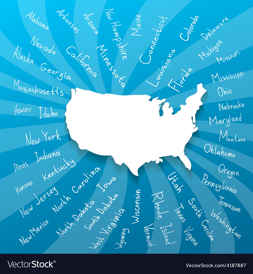 Freehand usa states vector | Price: 1 Credit (USD $1)