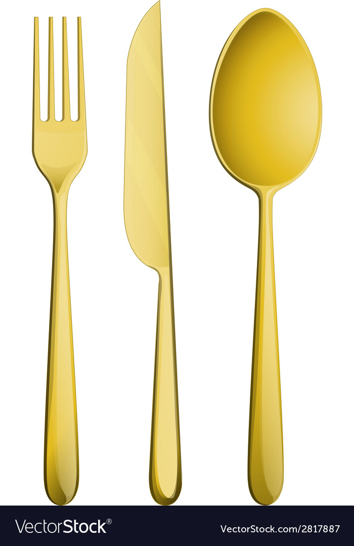 Golden dining set vector | Price: 1 Credit (USD $1)