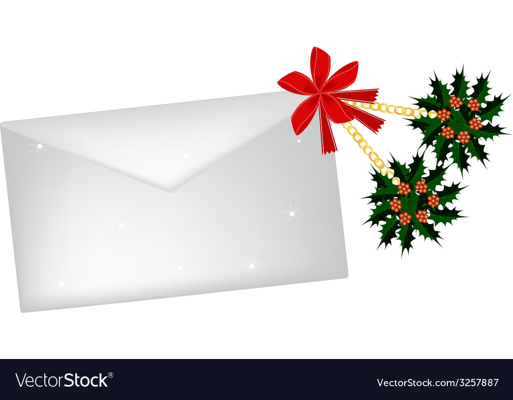 Golden stars and christmas holly with a letter vector | Price: 1 Credit (USD $1)