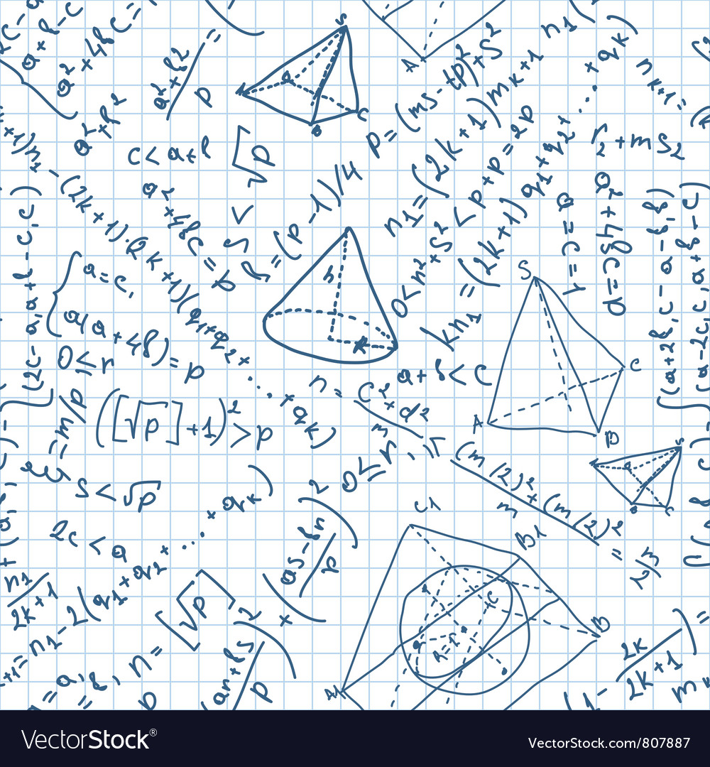 Maths seamless pattern vector | Price: 1 Credit (USD $1)