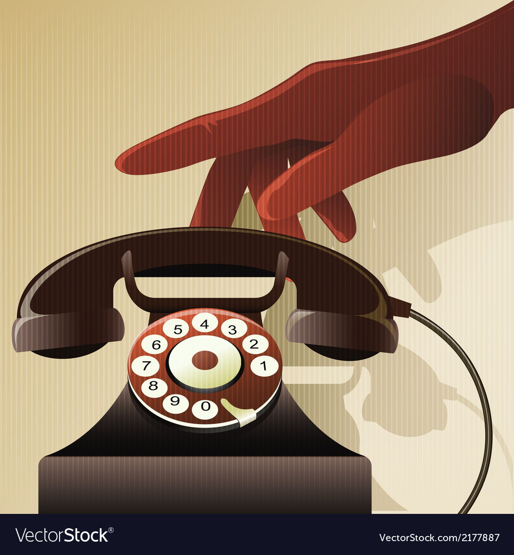 Retro telephon vector | Price: 1 Credit (USD $1)