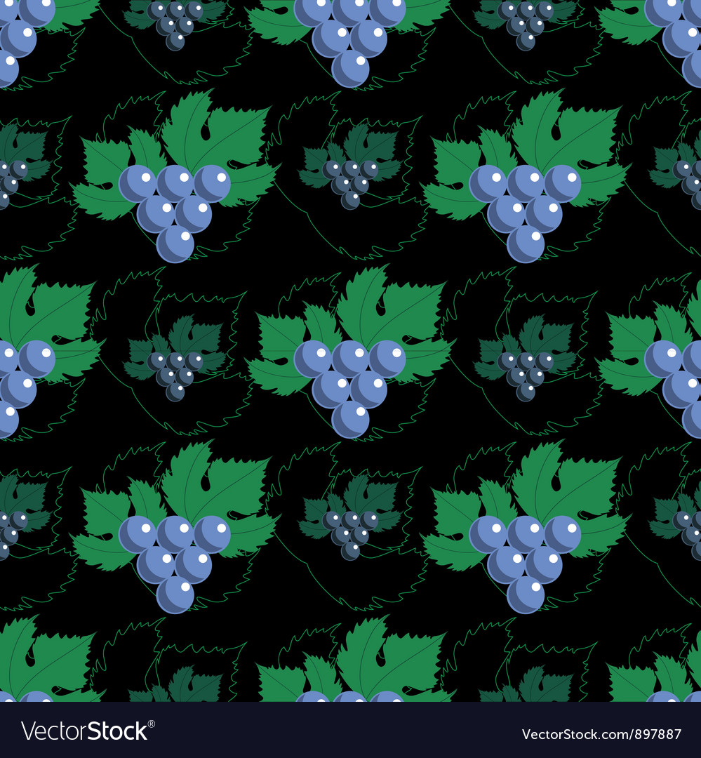 Seamless grapes pattern vector | Price: 1 Credit (USD $1)