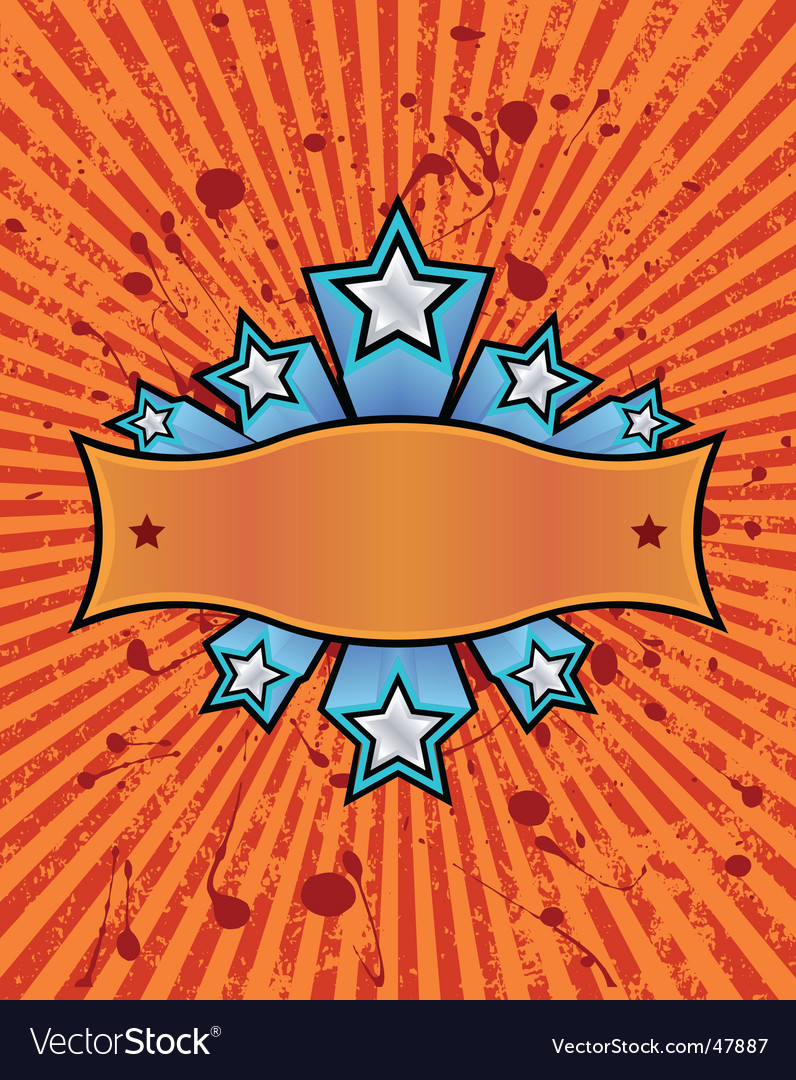 Star banner orange vector | Price: 1 Credit (USD $1)