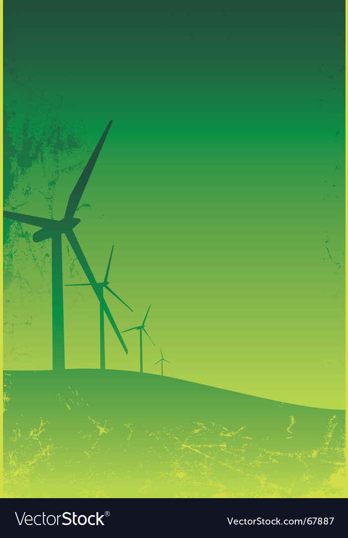 Turbine grunge green vector | Price: 1 Credit (USD $1)