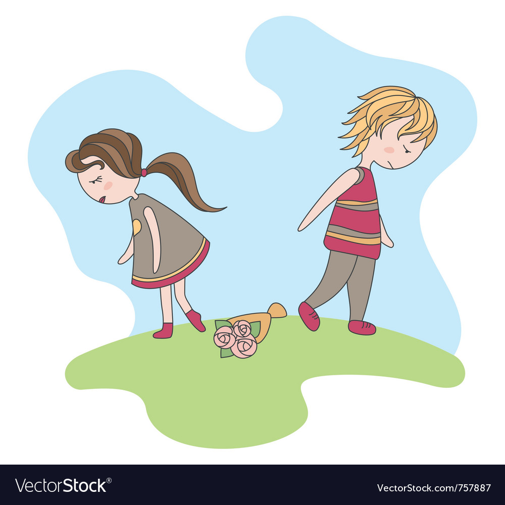 Unfortunate date of abstract boy and girl vector | Price: 3 Credit (USD $3)