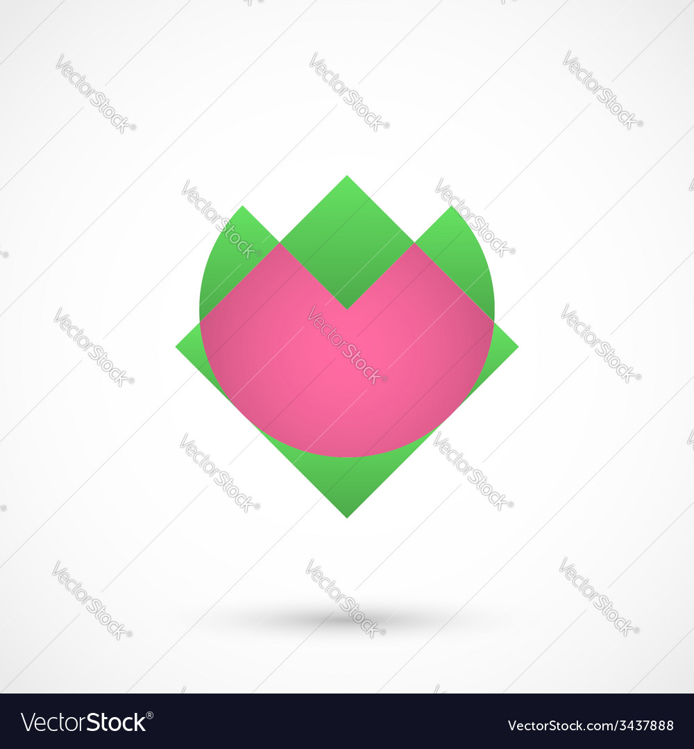 Abstract heart flower vector | Price: 1 Credit (USD $1)