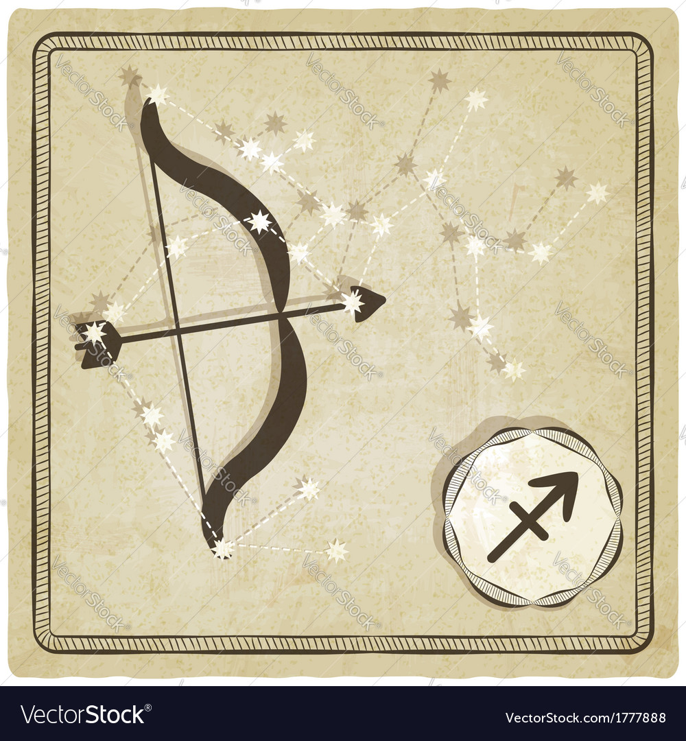 Astrological sign - sagittarius vector | Price: 1 Credit (USD $1)