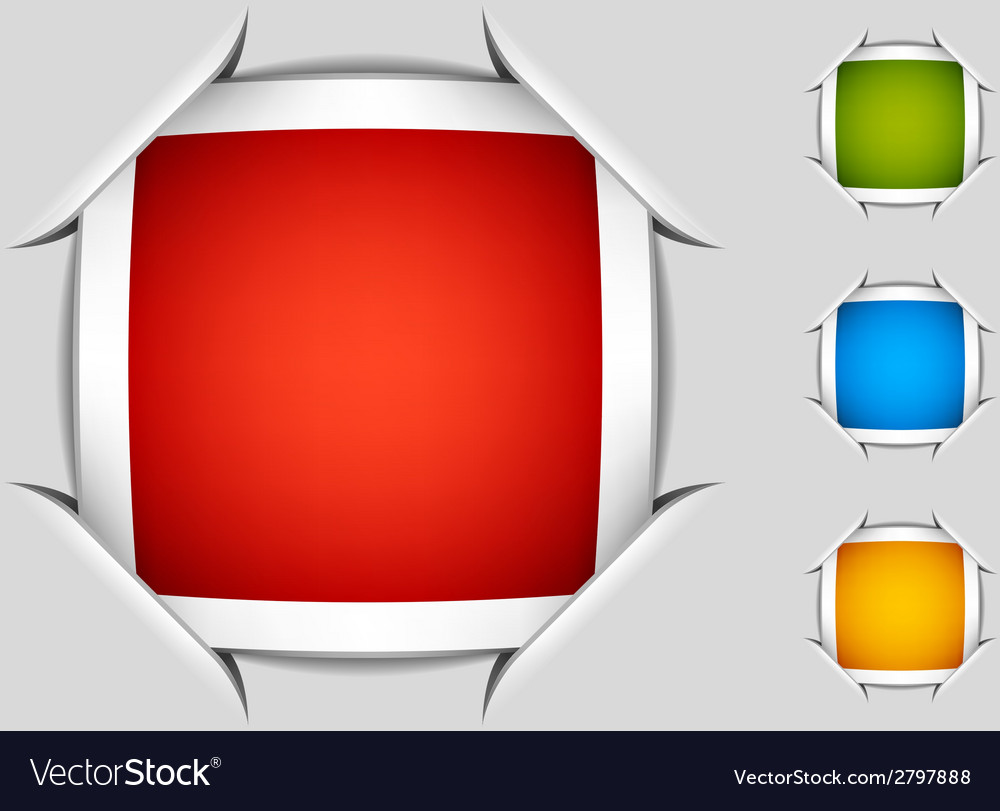 Blank attached square labels vector | Price: 1 Credit (USD $1)