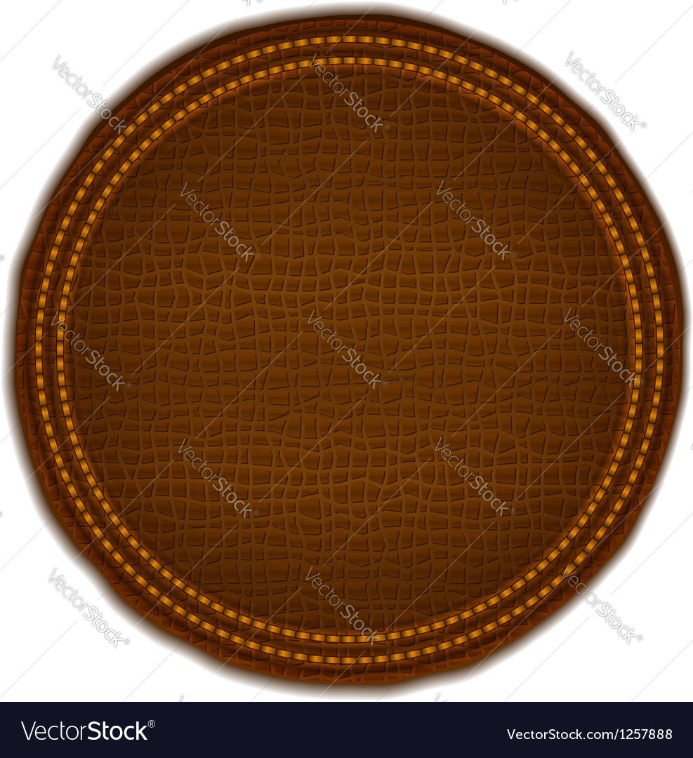 Brown leather label vector | Price: 1 Credit (USD $1)