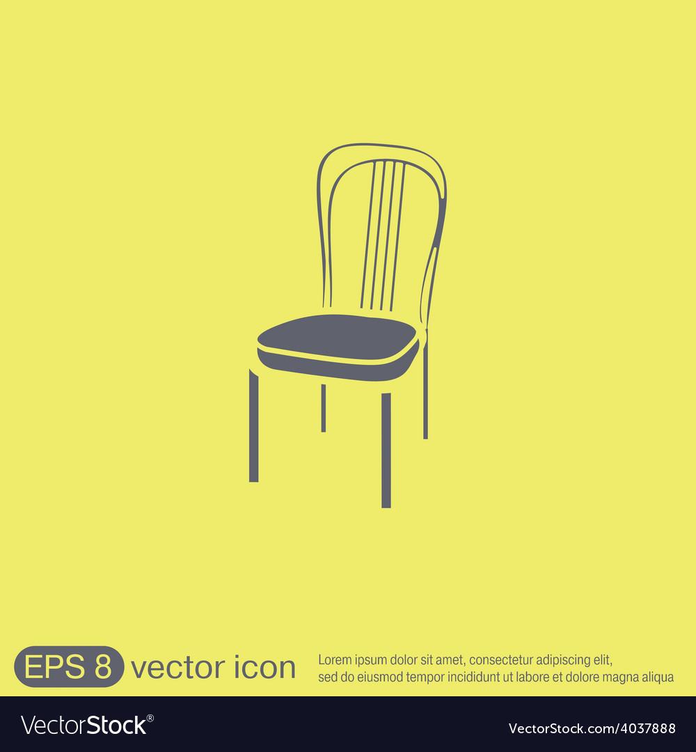 Chair icon symbol furniture icon home interior vector | Price: 1 Credit (USD $1)