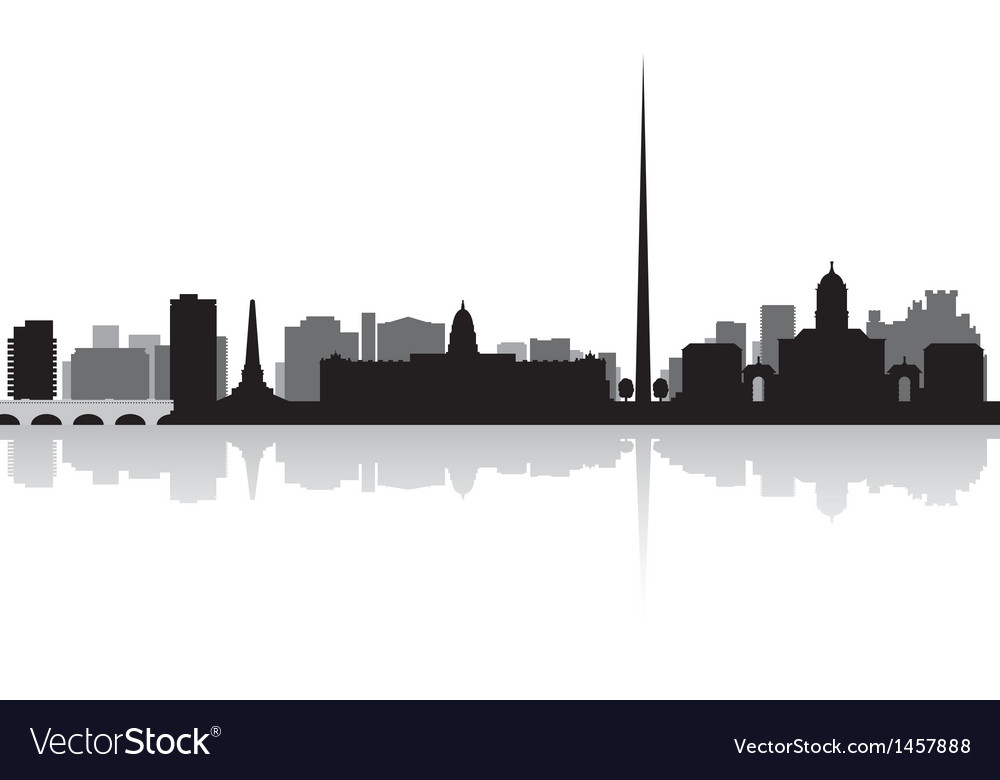 Dublin city skyline silhouette vector | Price: 1 Credit (USD $1)