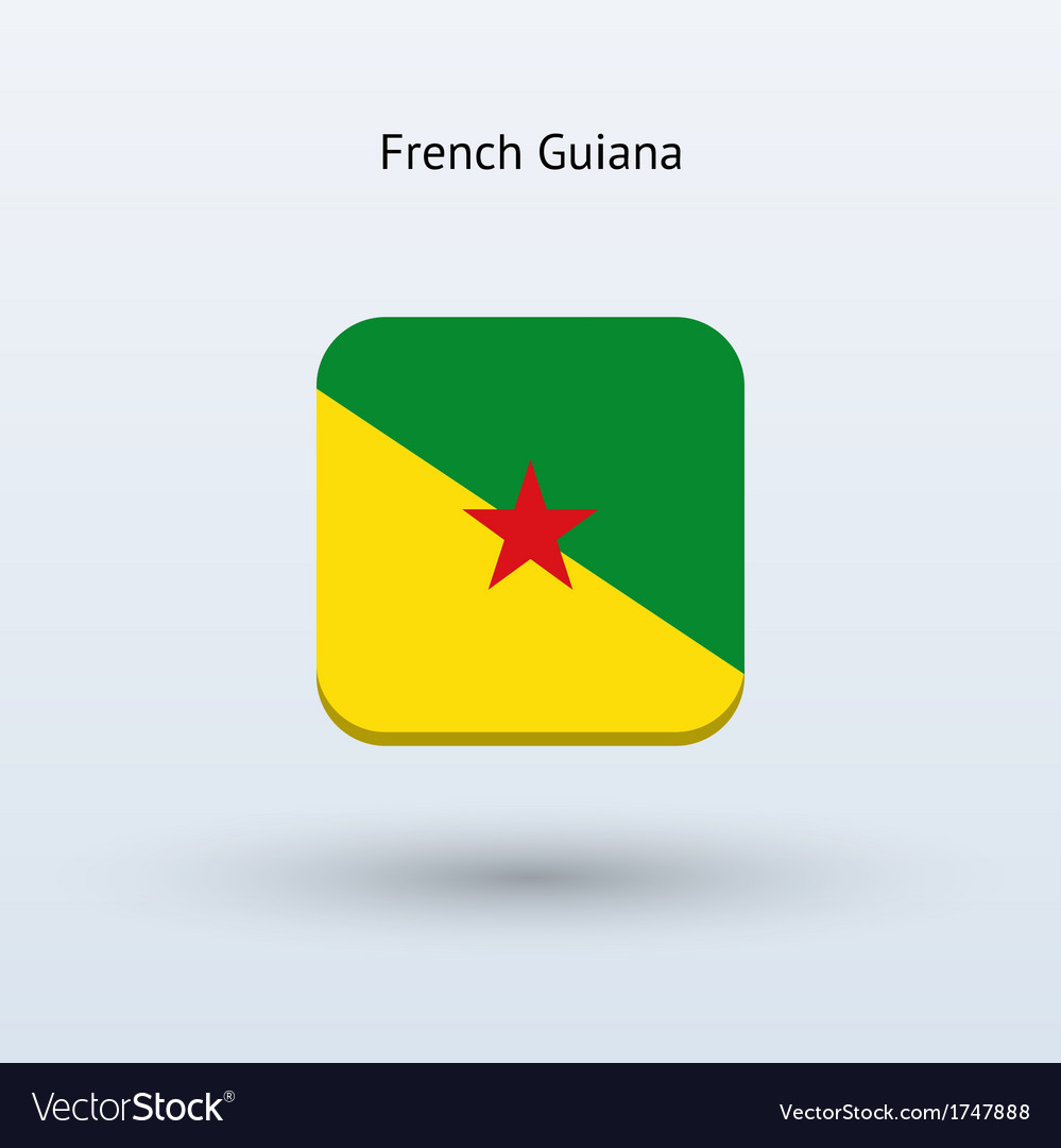 French guiana flag icon vector | Price: 1 Credit (USD $1)