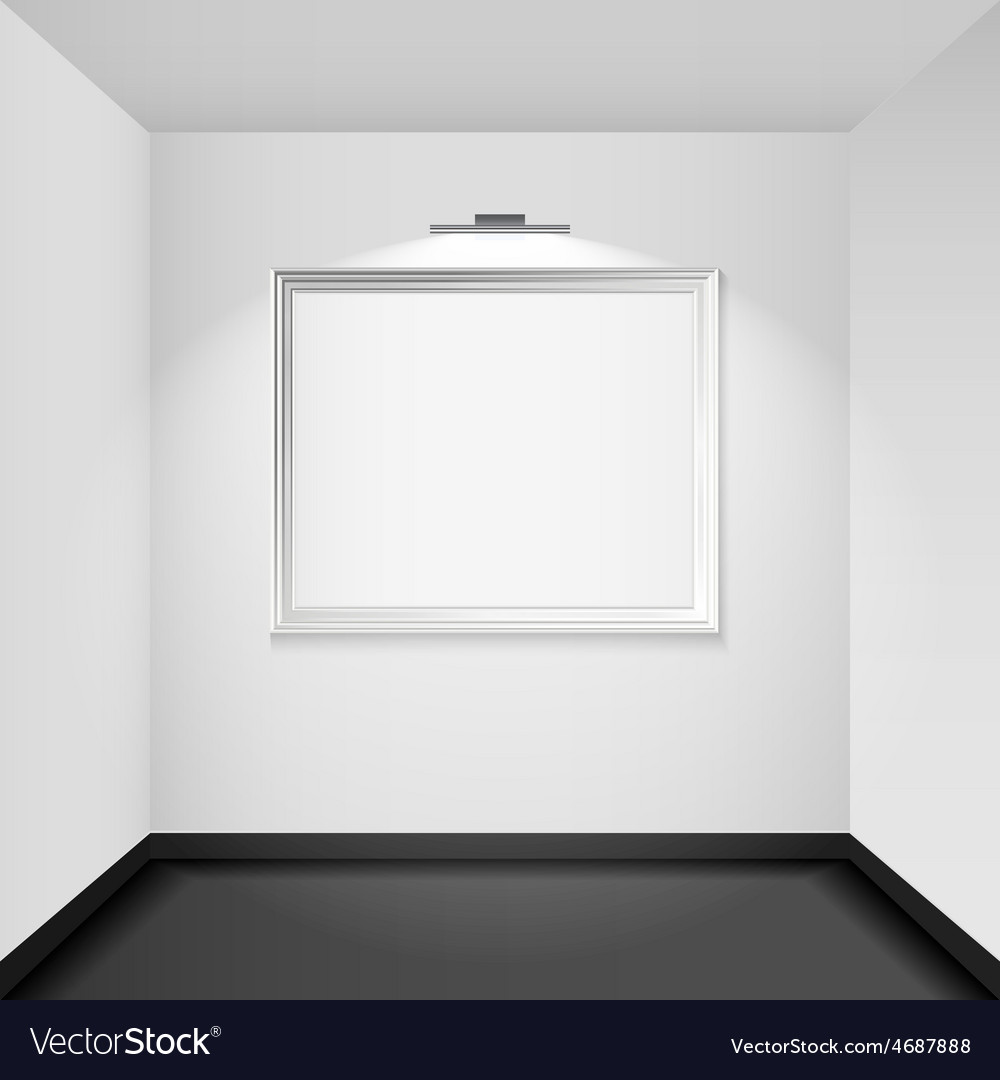 Gallery room interior blank picture frame vector | Price: 3 Credit (USD $3)