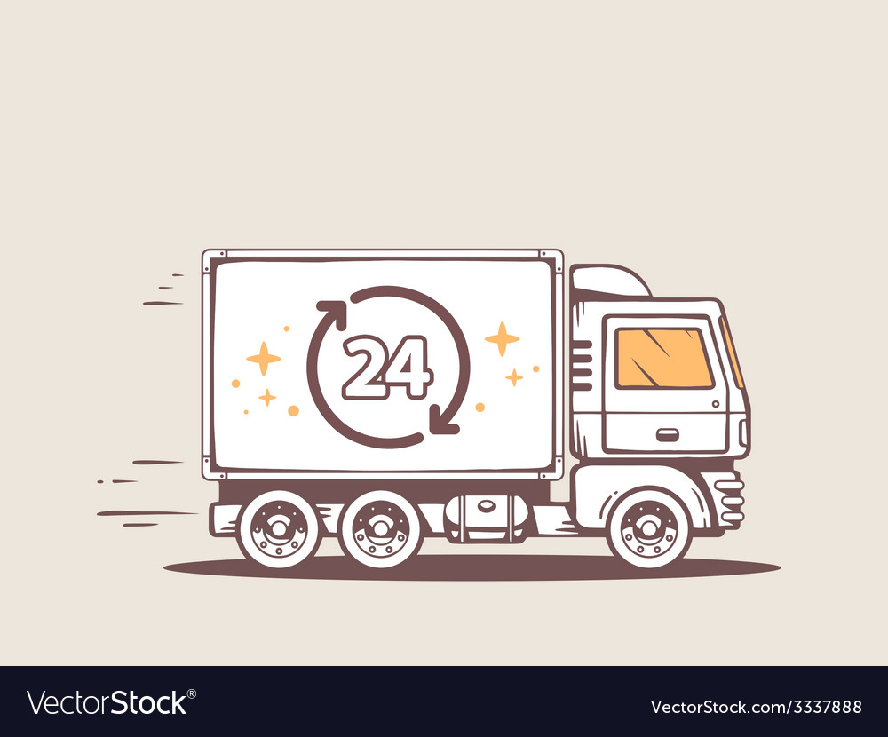 Truck free and fast delivering 24 h to cu vector | Price: 3 Credit (USD $3)