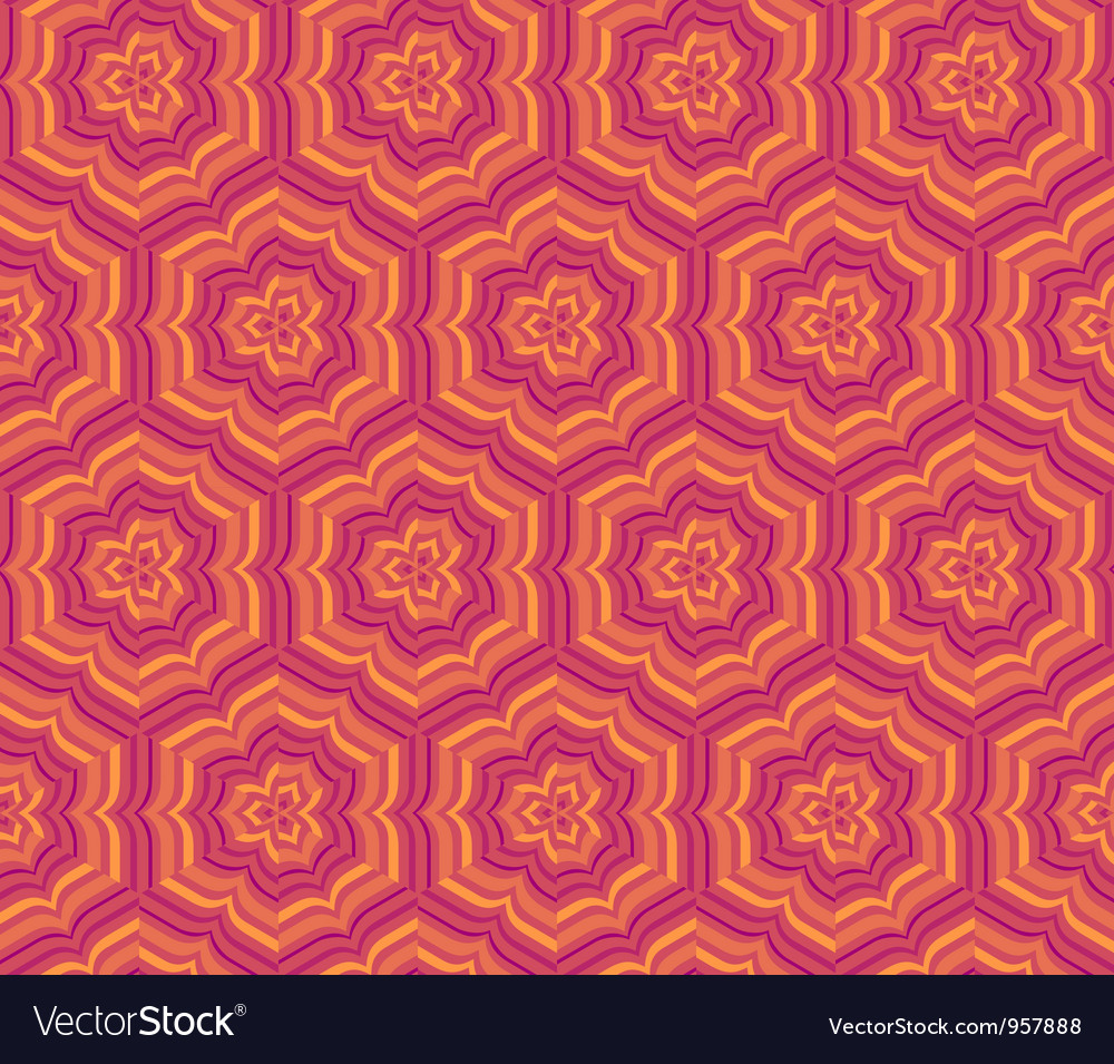 Vintage pattern wallpaper seamless background vector | Price: 1 Credit (USD $1)