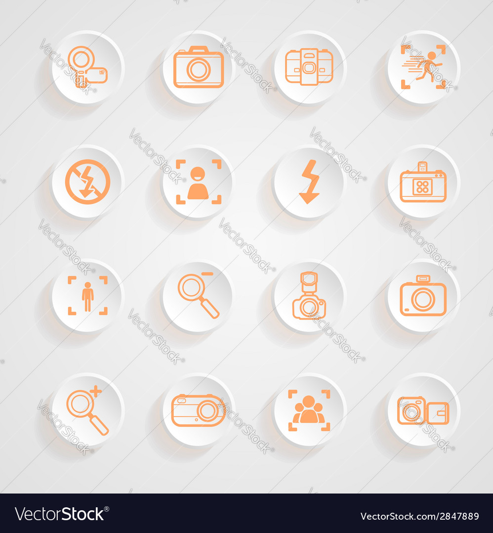 Camera icons and menu camera icons icons button sh vector | Price: 1 Credit (USD $1)