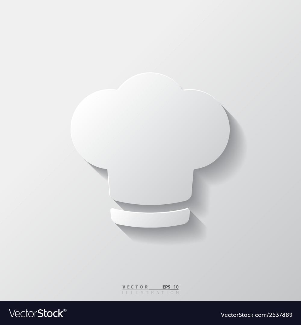 Chef cap icon cooking cap vector | Price: 1 Credit (USD $1)