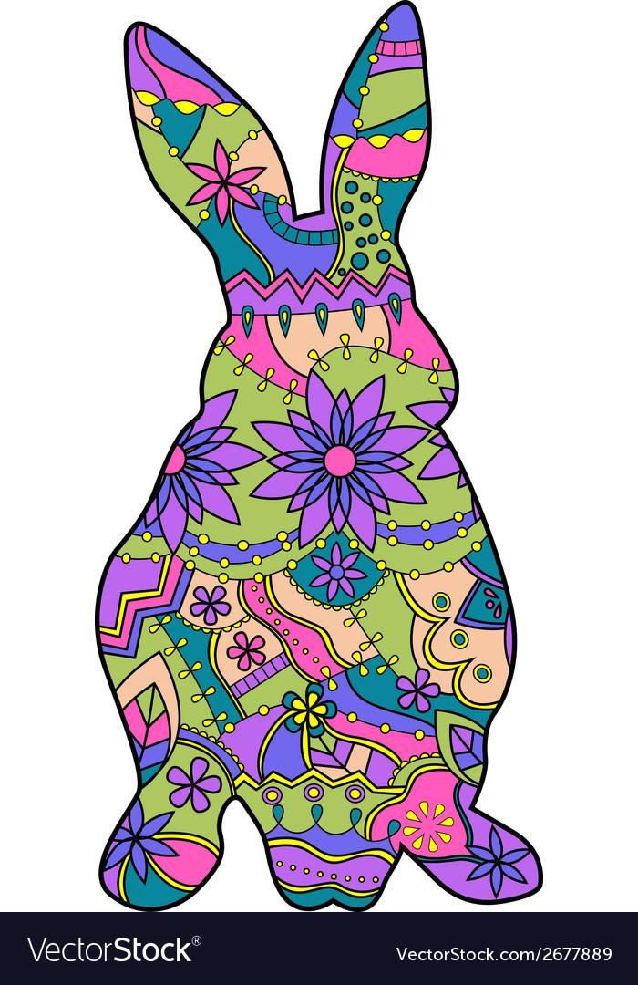 Colorful rabbit vector | Price: 1 Credit (USD $1)