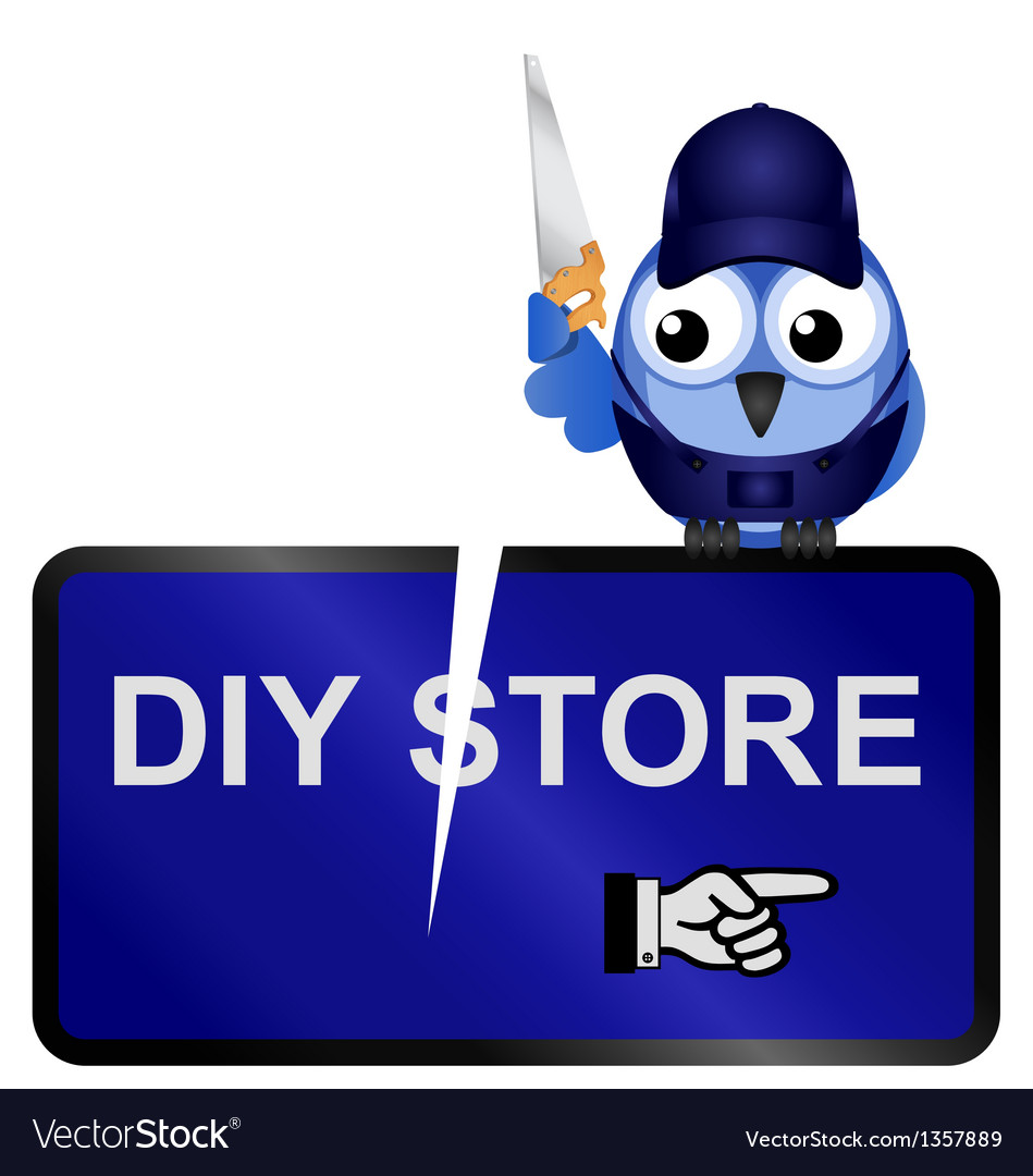 Diy store sign vector | Price: 1 Credit (USD $1)
