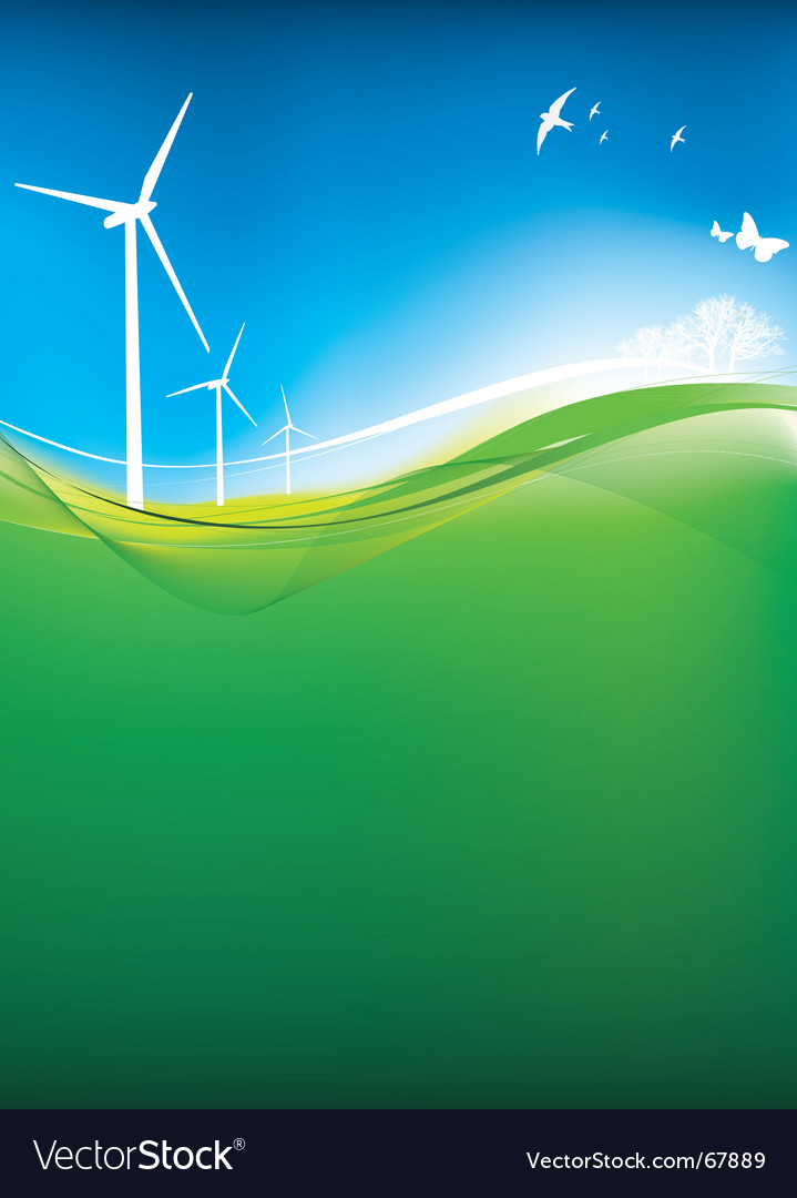Eco turbine background vector | Price: 1 Credit (USD $1)