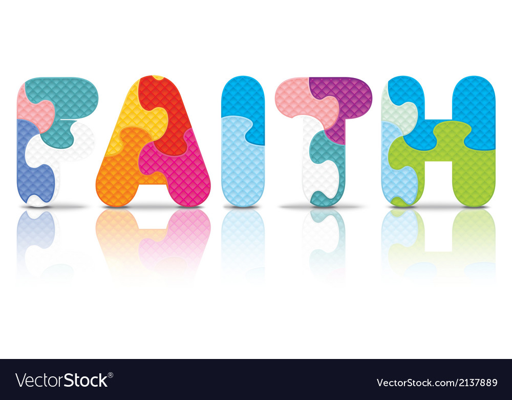 Faith written with alphabet puzzle vector | Price: 1 Credit (USD $1)