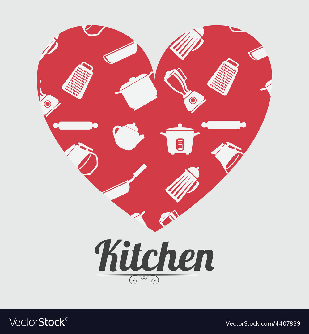 Kitchen design vector | Price: 1 Credit (USD $1)
