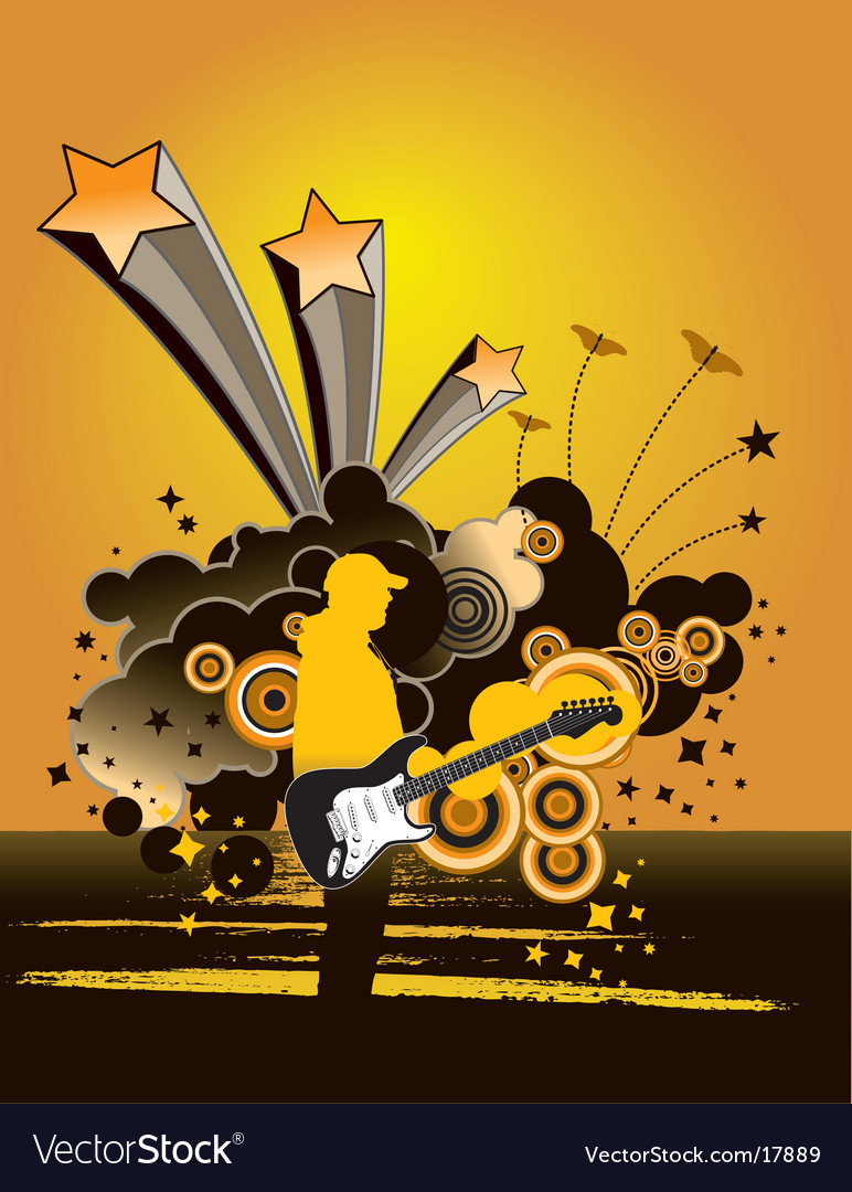 Music grunge man vector | Price: 1 Credit (USD $1)
