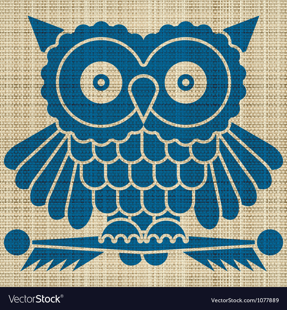 Owl print vector | Price: 1 Credit (USD $1)
