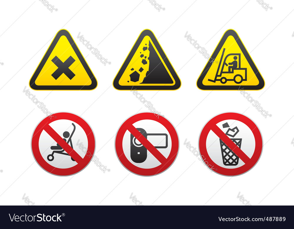 Prohibited signs set vector | Price: 1 Credit (USD $1)