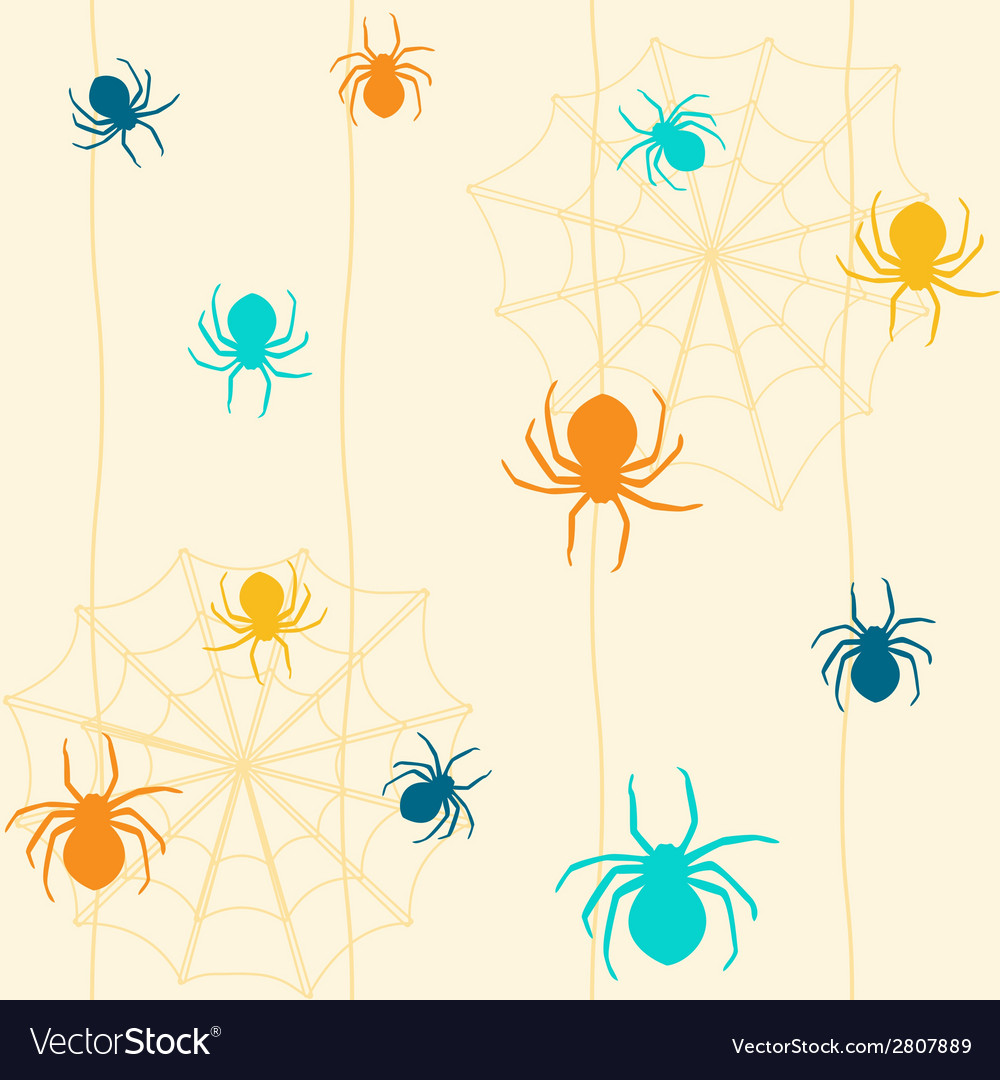 Seamless pattern with spiders vector | Price: 1 Credit (USD $1)