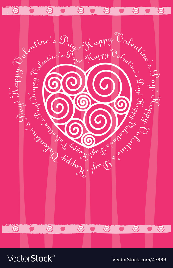 Valentine's day card with heart vector | Price: 1 Credit (USD $1)