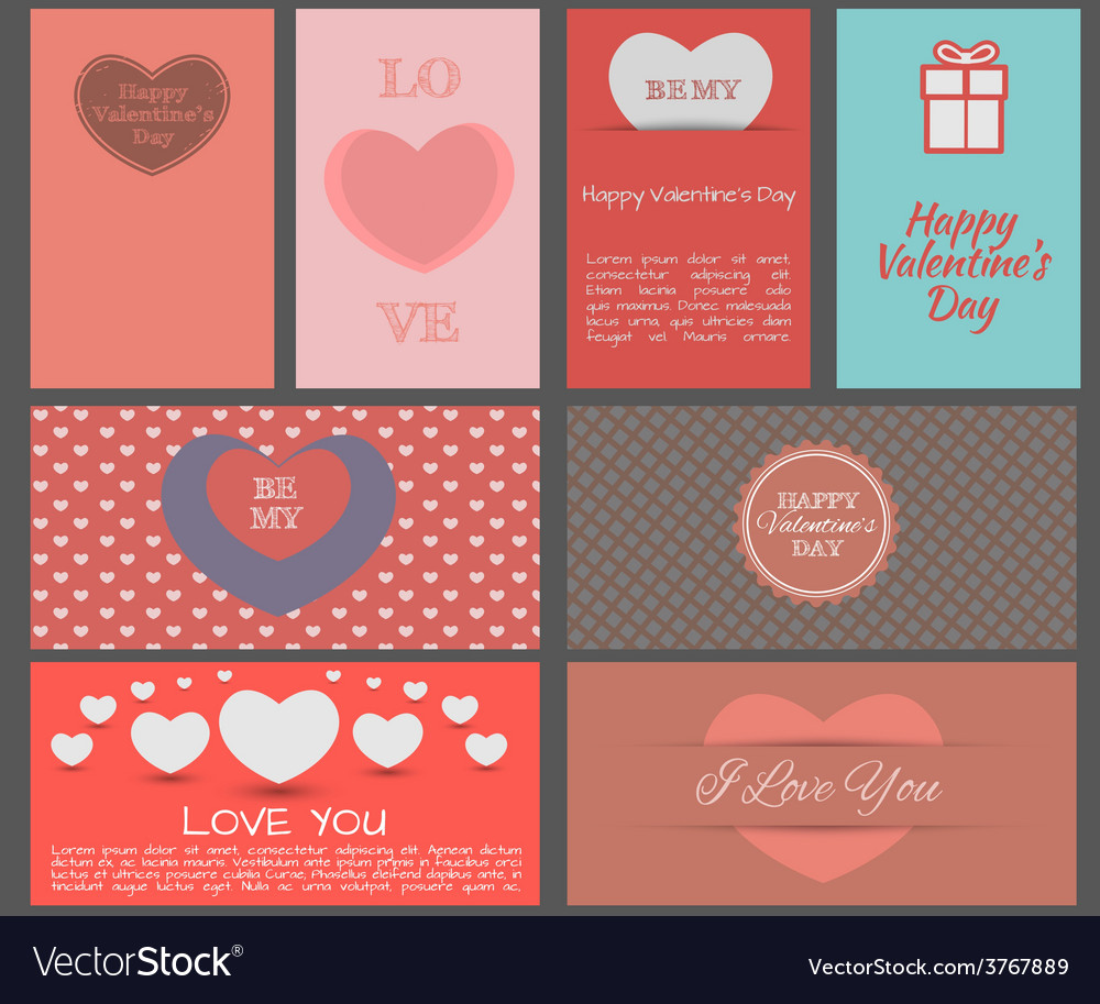 Valentines day heards cards vector | Price: 1 Credit (USD $1)