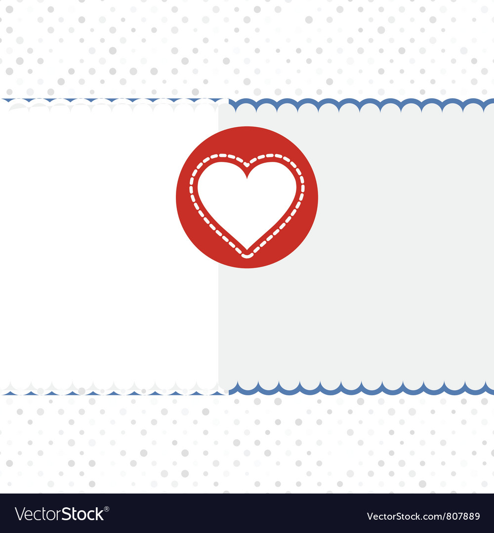 Valentines heart card vector | Price: 1 Credit (USD $1)