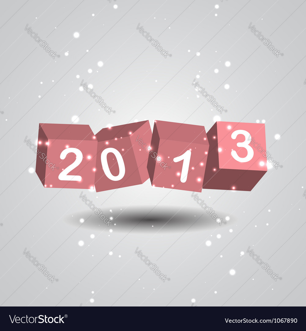 2013 new year digits vector | Price: 1 Credit (USD $1)