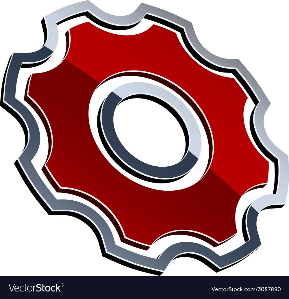 3d shiny sprocket vector | Price: 1 Credit (USD $1)