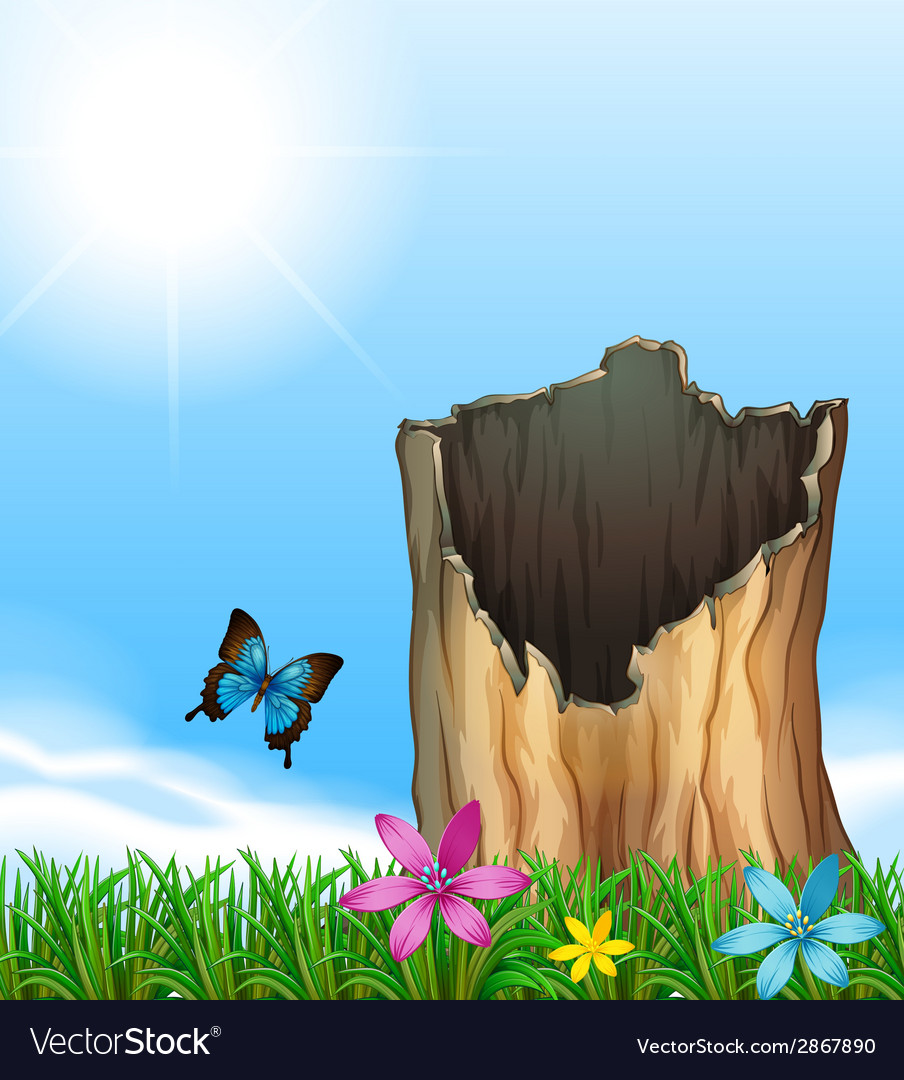A stump of a tree vector | Price: 1 Credit (USD $1)