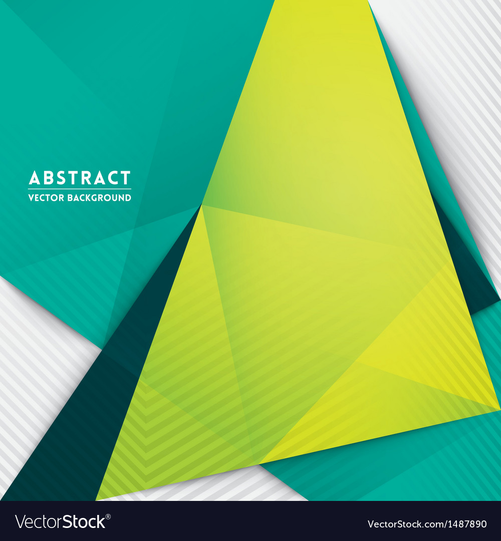 Abstract triangle shape background vector