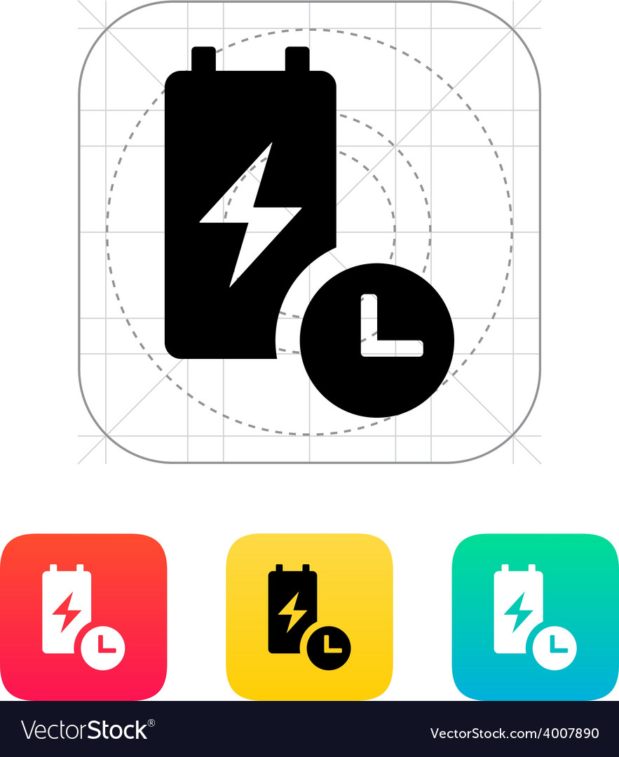 Battery live time icon vector | Price: 1 Credit (USD $1)