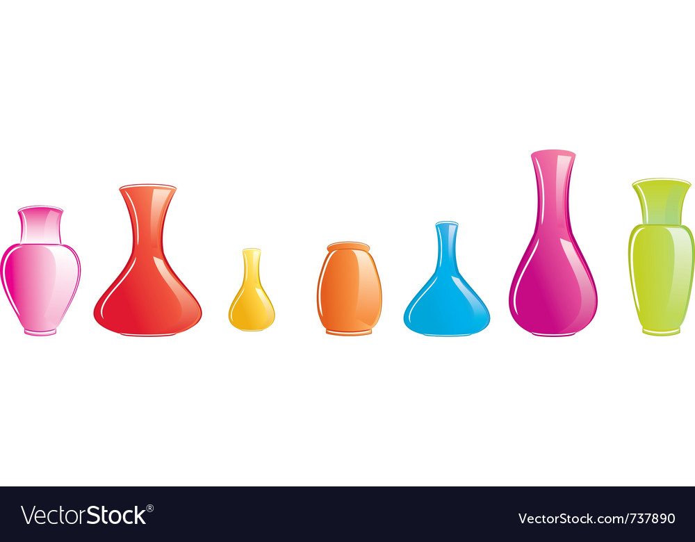Color vase icon vector | Price: 1 Credit (USD $1)