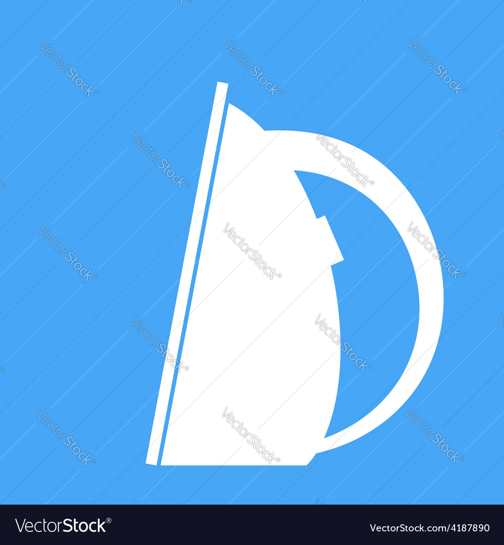 Iron on a blue background vector | Price: 1 Credit (USD $1)