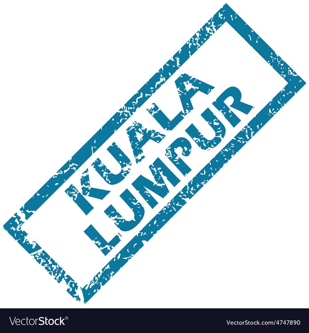 Kuala lumpur rubber stamp vector | Price: 1 Credit (USD $1)