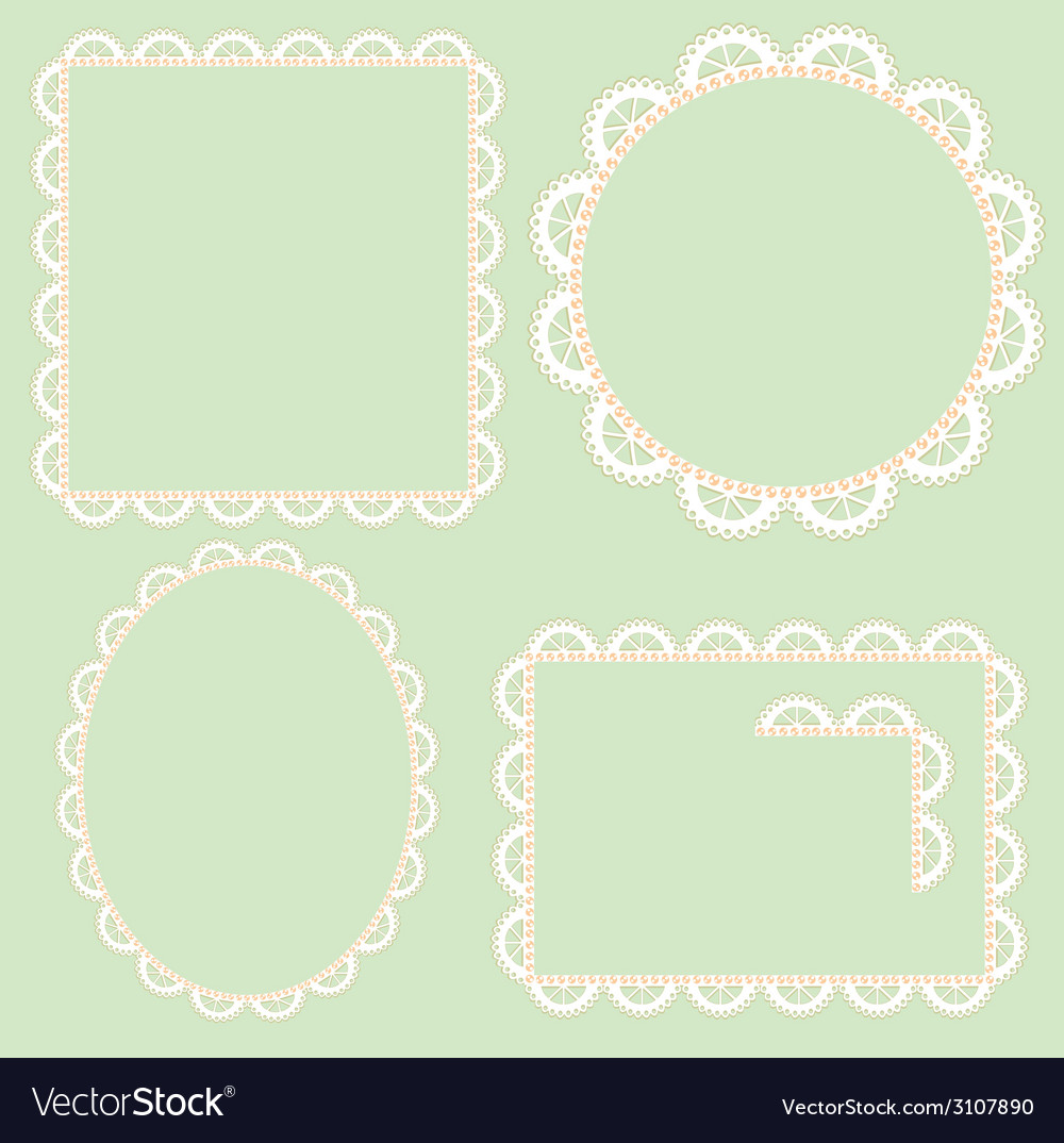 Lace frame vector | Price: 1 Credit (USD $1)